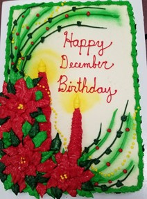 December bday and June half bday cake